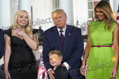 Tiffany Photo - Tiffany Trump United States President Donald J Trump and First lady Melania Trump watch the fireworks display after the President formally accepted the 2020 Republican presidential nomination during his Republican National Convention address from the South Lawn of the White House in Washington DC on Thursday August 27 2020Credit Erin Scott  Pool via CNPAdMedia