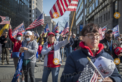Supremes Photo - People stand for the National Anthem during a pro-Trump MAGA rally at Freedom Plaza with a march on Pennsylvania Avenue Northwest to the United States Supreme Court in Washington DC on Saturday November 14 2020Credit Rod Lamkey  CNPAdMedia
