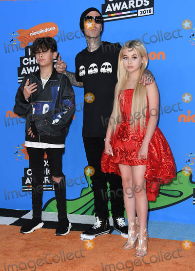 Alabama Barker Photo - 24 March 2018 - Inglewood California - Landon Barker Travis Barker Alabama Barker Nickelodeons 2018 Kids Choice Awards  held at The Forum Photo Credit Birdie ThompsonAdMedia