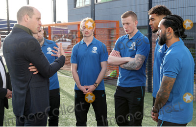 Tom Davis Photo - 30012020 - Prince William Duke Of Cambridge Seamus Coleman Tom Davies Jordan Pickford Dominic Calvert Lewin and Theo Walcott during his visit Everton Football Club official charity Everton in the Community as part of the Heads Up campaign in Liverpool Photo Credit ALPRAdMedia