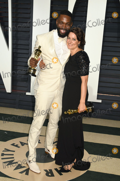 Adele Romanski Photo - 26 February 2017 - Beverly Hills California - Tarell Alvin McCraney Adele Romanski 2017 Vanity Fair Oscar Party held at the Wallis Annenberg Center Photo Credit Byron PurvisAdMedia