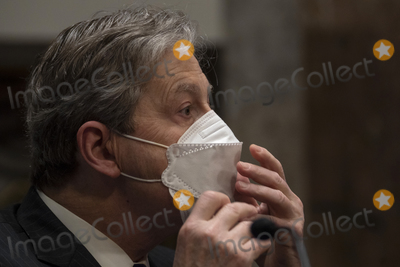 Kennedy Photo - United States Senator John Neely Kennedy (Republican of Louisiana) adjusts his face mask during a US Senate Judiciary Committee oversight hearing on Capitol Hill in Washington Wednesday Aug 5 2020 to examine the Crossfire Hurricane investigation Credit Carolyn Kaster  Pool via CNPAdMedia