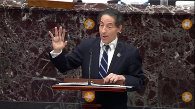 The Used Photo - In this image from United States Senate television US Representative Jamie Raskin (Democrat of Maryland) Lead Manager on the Part of the US House makes his closing argument during Day 5 of the second impeachment trial of the former president in the US Senate in the US Capitol in Washington DC on Saturday February 13 2021Mandatory Credit US Senate TV via CNPAdMedia