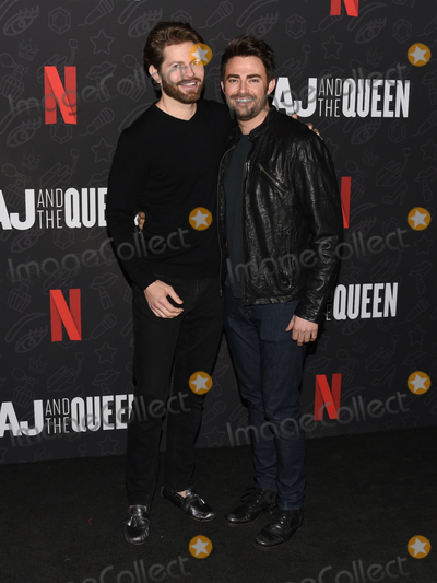 Jonathan Bennett Photo - 10 January 2020 - Beverly Hills California - Jaymes Vaughan and Jonathan Bennett Netflixs AJ And The Queen Season 1 Premiere at The Egyptian Theatre in Hollywood Photo Credit Billy BennightAdMedia