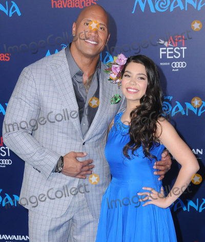 Aulii Cravalho Photo - 14 November 2016 - Hollywood California Dwayne Johnson The Rock Aulii Cravalho AFI FEST 2016 Presented By Audi - Premiere Of Disneys Moana held at TCL Chinese Theater Photo Credit Birdie ThompsonAdMedia