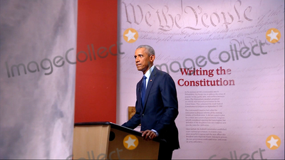 President Barack Obama Photo - In this image from the Democratic National Convention video feed former United States President Barack Obama makes remarks on the third night of the convention on Wednesday August 19 2020Credit Democratic National Convention via CNPAdMedia