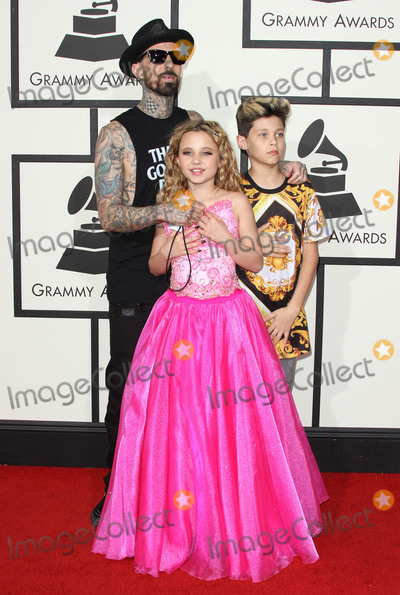 Alabama Photo - 15 February 2016 - Los Angeles California - Travis Barker Alabama Luella Barker Landon Asher Barker 58th Annual GRAMMY Awards held at the Staples Center Photo Credit AdMedia
