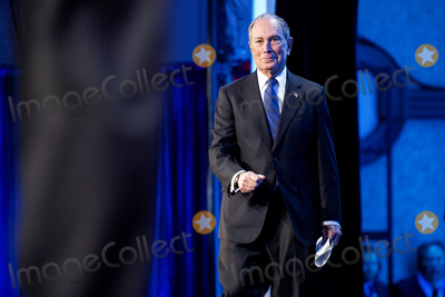 Michael Bloomberg Photo - Former Mayor of New York and current Democratic presidential candidate Michael Bloomberg walks onstage to deliver remarks at the United States Conference of Mayors 88th Winter Meeting at the Capital Hilton Hotel in Washington DC US on Wednesday January 22 2020Credit Stefani Reynolds  CNPAdMedia