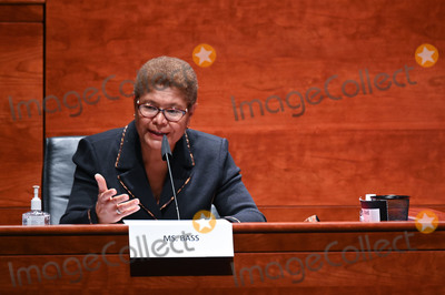 Train Photo - United States Representative Karen Bass (Democrat of California) speaks during a markup on HR 7120 the Justice in Policing Act of 2020 in Washington DC US on Wednesday June 17 2020 The House bill would make it easier to prosecute and sue officers and would ban federal officers from using choke holds bar racial profiling end no-knock search warrants in drug cases create a national registry for police violations and require local police departments that get federal funds to conduct bias training Credit Erin Scott  Pool via CNPAdMedia