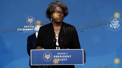 Foreigner Photo - Linda Thomas-Greenfield United States Ambassador to the United Nations-designate makes remarks at the event where US President-elect Joe Biden announced his nominees to Key Foreign Policy and National Security Posts in Wilmington Delaware on Tuesday November 24 2020Credit Biden Transition via CNPAdMedia