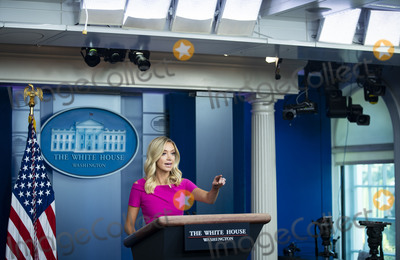 White House Photo - Kayleigh McEnany White House press secretary calls on a reporter during a news conference in the James S Brady Press Briefing Room at the White House in Washington DC US on Monday June 22 2020 Credit Al Drago  Pool via CNPAdMedia