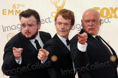 Alfie Allen Photo - 20 September 2015 - Los Angeles California - John Bradley-West Alfie Allen Conleth Hill 67th Annual Primetime Emmy Awards - Arrivals held at Microsoft Theater Photo Credit Byron PurvisAdMedia