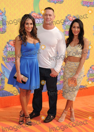 Nikki Bella Photo - 29 March 2014 - Los Angeles California - Nikki Bella John Cena Brie Bella 27th Annual Nickelodeon Kids Choice Awards held at the USC Galen Center Photo Credit Byron PurvisAdMedia