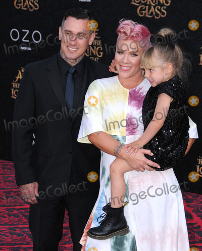 Alecia Moore Photo - 24 May 2016 - Hollywood California - Carey Hart Pink Alecia Moore Willow Sage Hart Arrivals for the Premiere Of Disneys Alice Through The Looking Glass held at El Capitan Theater Photo Credit Birdie ThompsonAdMedia
