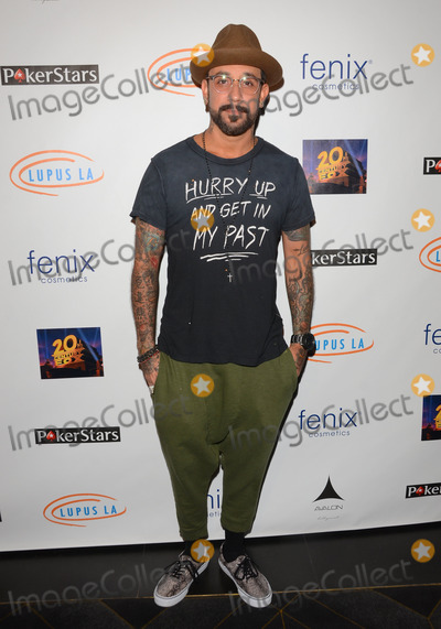 AJ MCLEAN Photo - 18 September 2014 - Hollywood California - AJ McLean Celebrity arrivals for the Get Lucky for Lupus LA 6th annual poker tournament held at Avalon Hollywood in Hollywood Ca Photo Credit Birdie ThompsonAdMedia