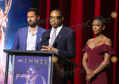 Samira Wiley Photo - 12 July 2018-  North Hollywood California - Ryan Eggold Hayma Washington Samira Wiley 70th Emmy Awards Nominations Announcement held at Saban Media Center Photo Credit Faye SadouAdMedia