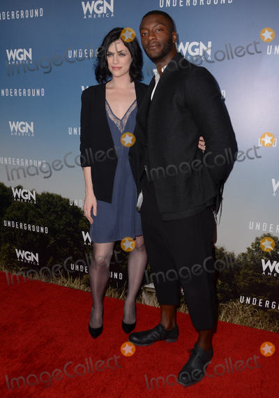 Aldis Hodge Photo - 08 January  - Pasadena Ca - Jessica de Gouw Aldis Hodge Arrivals for the WGN America Winter TCA Tour Underground held at The Langham Hotel Photo Credit Birdie ThompsonAdMedia