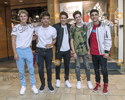 Youngstown Photo - 20 June 2018 - Youngstown Ohio - Hollywood Records recording artists IN REAL LIFE perform a few of their hits for their fans at the Southern Park Mall The boy band composed of (left to right) Brady Tutton Sergio Calderon Chance Perez Michael Conor and Drew Ramos were the five finalists from the ABC reality music television competition series BOY BAND  Photo Credit Jason L NelsonAdMedia