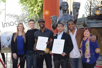 Aldis Hodge Photo - 26 January  - Hollywood Ca - Alwyn Hight Kushner Woody Schultz Aldis Hodge Neil Brown Jr Jason George SAG Awards Actor visits Hollywoods TCL Chinese Theater with SAG Awards nominees Aldis Hodge and Neil Brown Jr held at TCL Chinese Theater  Photo Credit Birdie ThompsonAdMedia