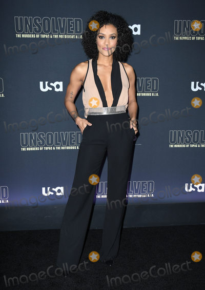 Annie  Ilonzeh Photo - 22 February 2018 - Hollywood California - Annie Ilonzeh USA Networks Unsolved The Murders of Tupac  The Notorious BIG held at Avalon Hollywood Photo Credit Birdie ThompsonAdMedia