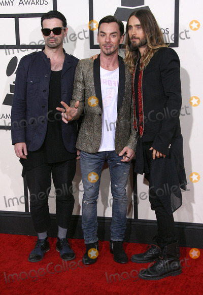 Tomo Milicevic Photo - 26 January 2014 - Los Angeles California - Tomo Milicevic Shannon Leto Jared Leto 30 Seconds To Mars 56th GRAMMY Awards held at the Staples Center Photo Credit AdMedia