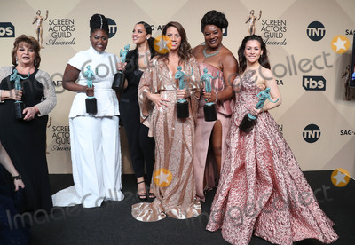 Yael Stone Photo - 29 January 2017 - Los Angeles California - Danielle Brooks Selenis Leyva Adrienne C Moore Yael Stone 23rd Annual Screen Actors Guild Awards held at The Shrine Expo Hall Photo Credit F SadouAdMedia