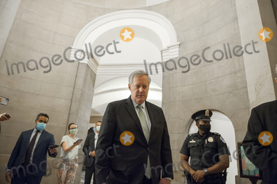 The Used Photo - Mark Meadows Assistant to the President and Chief of Staff arrives for a meeting with US Senate Minority Leader Chuck Schumer (Democrat of New York) Speaker of the US House of Representatives Nancy Pelosi (Democrat of California) and US Secretary of the Treasury Steven T Mnuchin regarding the COVID-19 economic stimulus package at the US Capitol in Washington DC Thursday August 6 2020 Credit Rod Lamkey  CNPAdMedia