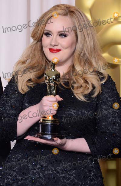 Adele Adkins Photo - 24 February 2013 - Hollywood California - Adele Adkins 85th Annual Academy Awards held at the Dolby Theatre at Hollywood  Highland Center Photo Credit Russ ElliotAdMedia