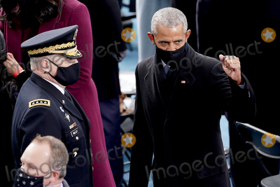 Barack Obama Photo - Former president Barack Obama is seen prior during the 59th Presidential Inauguration for President-elect Joe Biden and Vice President-elect Kamala Harris on Wednesday January 20 2021 at the US Capitol in Washington DCAdMedia