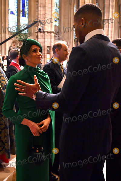 Anthony Joshua Photo - 09032020 - Meghan Markle Duchess Of Sussex Prince Edward Earl Of Wessex and Anthony Joshua Commonwealth Day 2020 Service at Westminster Abbey London Commonwealth Day 2020 Service at Westminster Abbey in London Photo Credit ALPRAdMedia