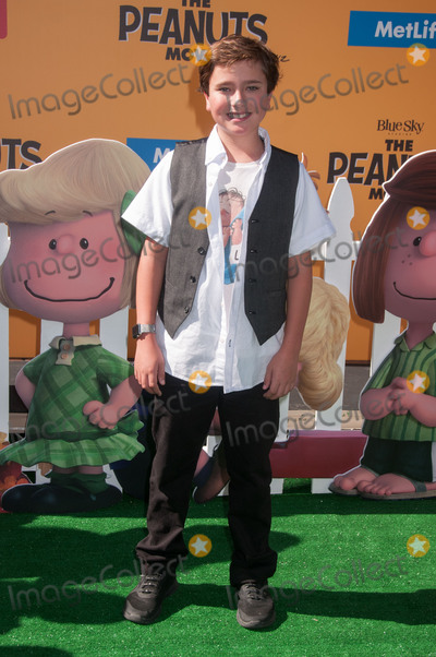 Alex Garfin Photo - 1 November 2015 - Westwood California - Alex Garfin The Peanuts Movie Los Angeles Premiere held at the Regency Village Theatre Photo Credit Byron PurvisAdMedia