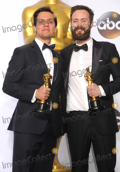 Benjamin Cleary Photo - 28 February 2016 - Hollywood California - Shan Christopher Ogilvie (2nd from L) and director Benjamin Cleary (2nd from R) winners of the Best Live Action Short award for Stutterer 88th Annual Academy Awards presented by the Academy of Motion Picture Arts and Sciences held at Hollywood  Highland Center Photo Credit Byron PurvisAdMedia