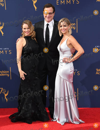 Andrea Barber Photo - 08 September 2018 - Los Angeles California - Andrea Barber Bob Sagat Candace Cameron Bure 2018 Creative Arts Emmys Awards - Arrivals held at Microsoft Theater Photo Credit Birdie ThompsonAdMedia