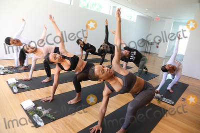 Adrienne Bailon Photo - 31 March 2017 - Beverly Hills California - Draya Michele Serayah McNeill Brittany Hampton Martha Michelle Jasmine Sanders Vaughn Arthur Audrey Sicara Adrienne Eliza Houghton aka Adrienne Bailon Draya Michele and Friends at AloYoga Photo Credit AdMedia