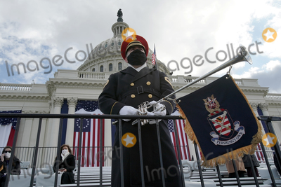 US Army Photo - A member of the US Army Band is seen prior to the 59th Presidential Inauguration for President-elect Joe Biden and Vice President-elect Kamala Harris on Wednesday January 20 2021 at the US Capitol in Washington DCCredit Greg Nash  Pool via CNPAdMedia