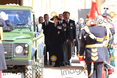 Prince Edward Photo - Photo Must Be Credited Alpha Press 073074 17042021Princess Anne Princess Royal Prince Edward Earl of Wessex Peter Phillips Prince Harry Duke of Sussex Earl of Snowdon David Armstrong-Jones and Vice-Admiral Sir Timothy Laurence follow Prince Philip Duke of Edinburghs coffin on a modified Jaguar Land Rover during the Ceremonial Procession during the funeral of Prince Philip Duke of Edinburgh at St Georges Chapel in Windsor Castle in Windsor Berkshire No UK Rights Until 28 Days from Picture Shot Date AdMedia