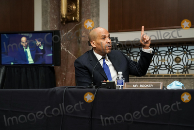 Cory Booker Photo - United States Senator Cory Booker (Democrat of New Jersey) questions nominee for United Nations Ambassador Linda Thomas-Greenfield during her Senate Foreign Relations Committee confirmation hearing on Wednesday January 27 2021Credit Greg Nash  Pool via CNPAdMedia
