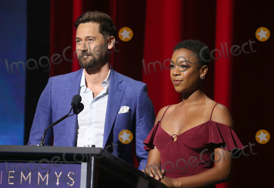 Samira Wiley Photo - 12 July 2018-  North Hollywood California - Ryan Eggold Samira Wiley 70th Emmy Awards Nominations Announcement held at Saban Media Center Photo Credit Faye SadouAdMedia