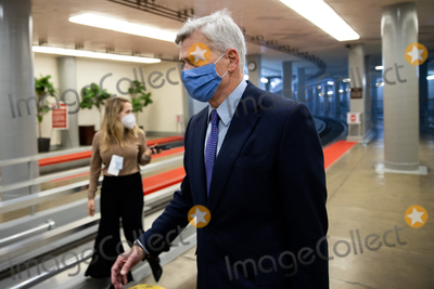 Cassidy Photo - Senator Bill Cassidy R-LA walks on Capitol Hill in Washington Saturday Feb 13 2021 before the fifth day of the second impeachment trial of former President Donald TrumpCredit Graeme Jennings - Pool via CNPAdMedia
