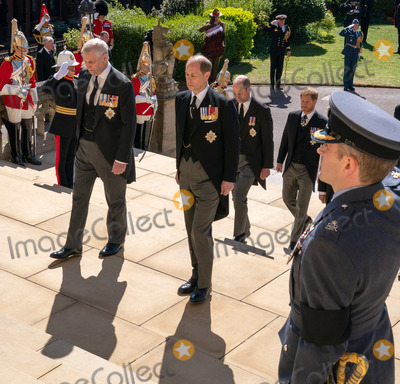 Prince Edward Photo - Photo Must Be Credited Alpha Press 073074 17042021Prince Andrew Duke of York Prince Edward Earl of Wessex Prince William Duke of Cambridge Prince Harry Duke of Sussex during the funeral of Prince Philip Duke of Edinburgh at St Georges Chapel in Windsor Castle in Windsor Berkshire No UK Rights Until 28 Days from Picture Shot Date AdMedia