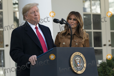 The National Photo - United States President Donald J Trump makes remarks as he and first lady Melania Trump present Butter the National Thanksgiving Turkey in the Rose Garden of the White House in Washington DC on Tuesday November 26 2019 Credit Chris Kleponis  Pool via CNPAdMedia