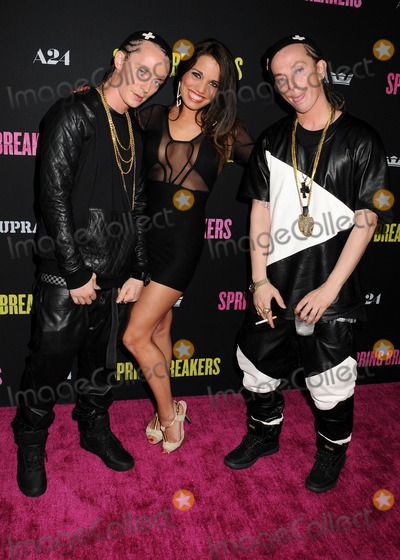 ATL Photo - 14 March 2013 - Hollywood California - ATL Twins Thurman Sewell Sidney Sewell  Spring Breakers Los Angeles Premiere held at Arclight Cinemas Photo Credit Byron PurvisAdMedia