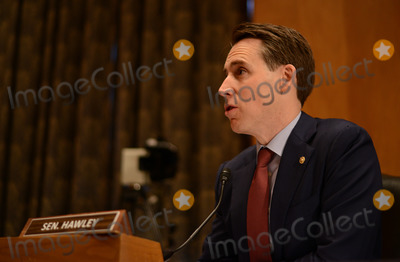 Josh Hawley Photo - United States Senator Josh Hawley (Republican of Missouri) speaks during a Senate Homeland and Governmental Affairs Committee confirmation hearing for Deanne Criswell administrator of the Federal Emergency Management Agency (FEMA) nominee for US President Joe Biden in Washington DC US on Thursday March 25 2021 If confirmed  Credit Astrid Riecken  Pool via CNPAdMedia