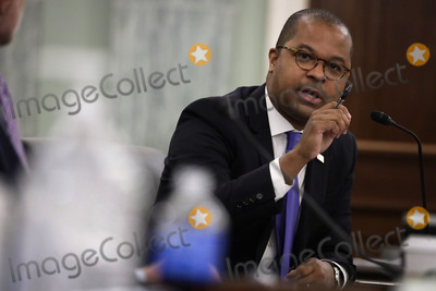 Alex Wong Photo - Commissioner of Federal Communications Commission Geoffrey Starks testifies during a United States Senate Committee on Commerce Science and Transportation oversight hearing to examine the Federal Communications Commission in Washington DC on June 24 2020 Credit Alex Wong  Pool via CNP  Pool via CNPAdMedia
