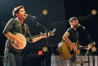 Seth Avett Photo - 27 May 2011 - Pittsburgh PA - Vocalistguitarist SETH AVETT and vocalistbanjo player SCOTT AVETT of the band THE AVETT BROTHERS performs to a Sold Out crowd at a stop on their Summer Camp 2011 Tour held at Stage AE  Photo Credit Jason L NelsonAdMedia