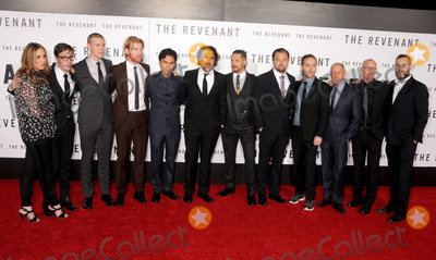 Alejandro Gonzalez Inarritu Photo - 16 December 2015 - Hollywood California - Mary Parent Joshua Burge Will Poulter Domhnall Gleeson Forrest Goodluck Alejandro Gonzalez Inarritu Tom Hardy Leonardo DiCaprio Emmanuel Lubezki Steve Golin Mark L Smith Kevin Redmon The Revenant Los Angeles Premiere held at the TCL Chinese Theatre Photo Credit Byron PurvisAdMedia