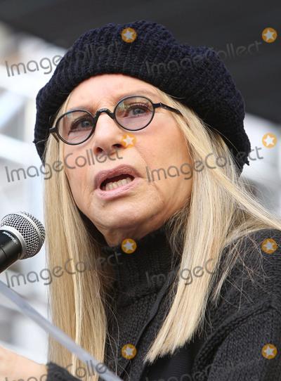 Barbra Streisand Photo - 21 January 2017 - Los Angeles California - Barbra Streisand Womens March in Los Angeles California Photo Credit F SadouAdMedia