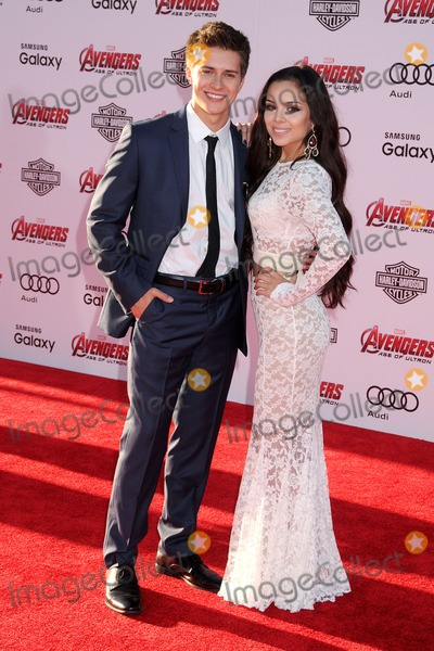 Angela Moreno Photo - 13 April 2015 - Hollywood California - Billy Unger Angela Moreno Avengers Age Of Ultron Los Angeles Premiere held at The Dolby Theatre Photo Credit Byron PurvisAdMedia