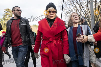 Jane Fonda Photo - Actress and political activist Jane Fonda center departs a climate protest at the White House in Washington DC US on Friday November 8 2019  Activists marched from the US Capitol to the White House to draw attention to the need to address climate change  Credit Stefani Reynolds  CNPAdMedia