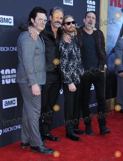 Austin Amelio Photo - 22 October  2017 - Los Angeles California - Josh McDermitt Steven Ogg Austin Amelio Jeffrey Dean Morgan AMC Celebrates the 100th Episode of The Walking Dead held at The Greek Theater in Los Angeles Photo Credit Birdie ThompsonAdMedia